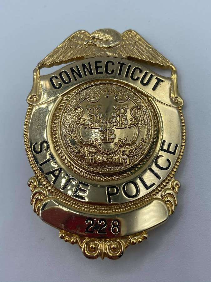 Obsolete Connecticut State Police Badge Issue Numbered 228 USA
