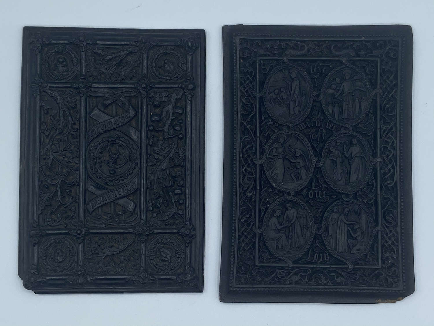 Pair Of Beautifully Carved Ebony Humphreys Henry Noel 1848 1st Edition