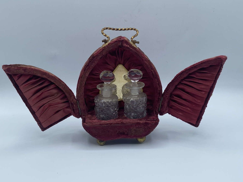 Victorian 1880s French Travelling Nécessaire Vanity Scent Bottle Case