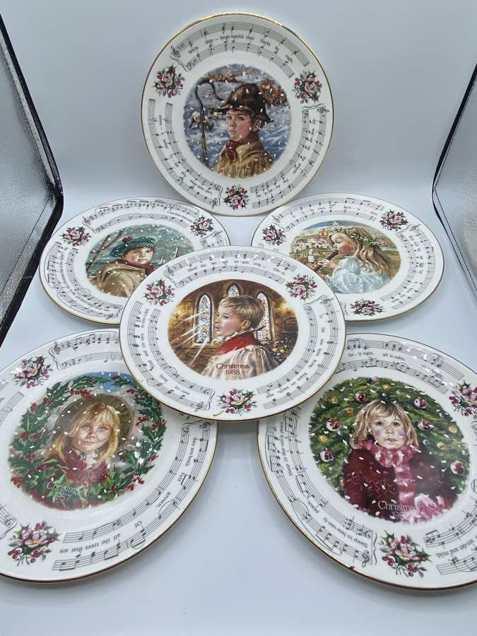 Vintage 1980s Royal Doulton Christmas Carol Complete Set Of 6