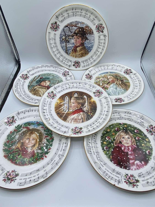 Vintage 1980s Royal Doulton Christmas Carol Complete Set Of 6