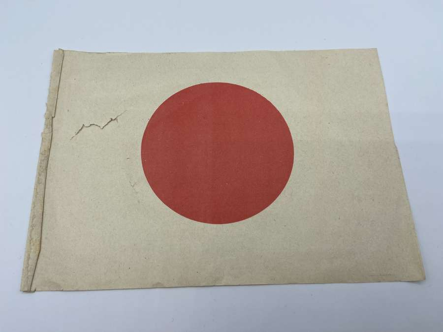 Early WW2 Japanese Meat Ball Paper Patriotic Flag