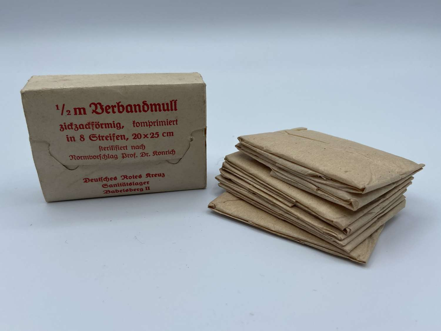 WW2 German Deutsche Rotes Kreuz DRK Babelsberg II POW Camp Bandages
