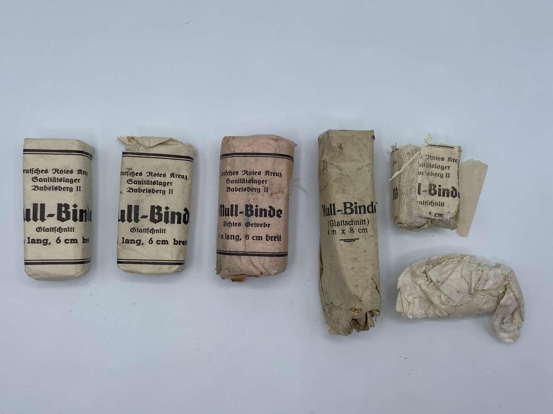 6x WW2 Deutsche Rotes Kreuz DRK Babelsberg II POW Camp Bandage
