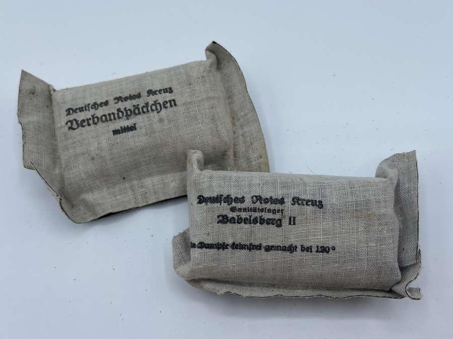 2 x WW2 German Wehrmacht Deutsche Rote Kreuz Bandages