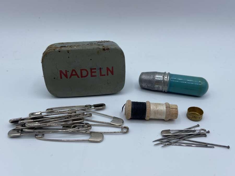 WW2 German Deutsche Rotes Kreuz DRK First Aid Needle Nadeln Sewing Kit