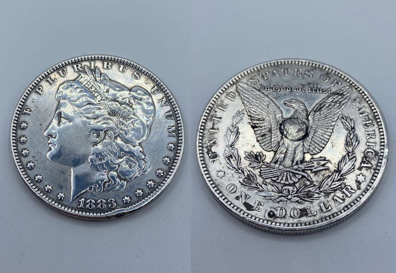 Antique 1883 Silver Mint Mark Philadelphia Morgan Dollar