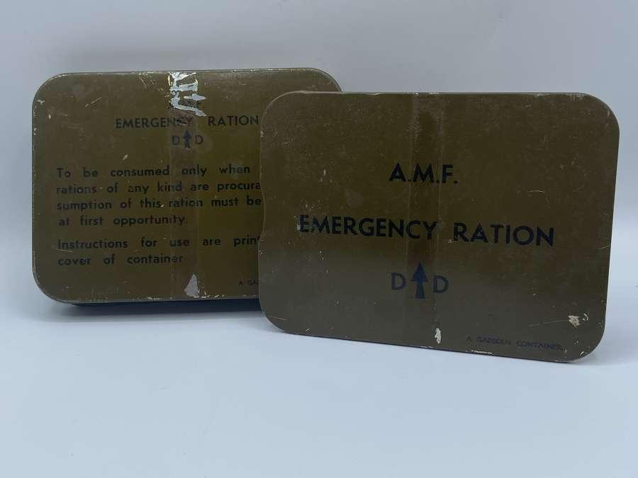 WW2 Austalian Military Forces AMF Emergency Ration Tin 1944 Dated
