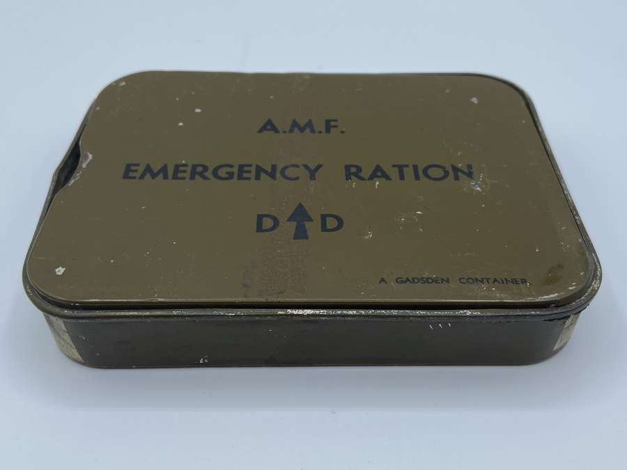 WW2 Austalian Military Forces AMF Emergency Ration Tin 1944 Dated (2)