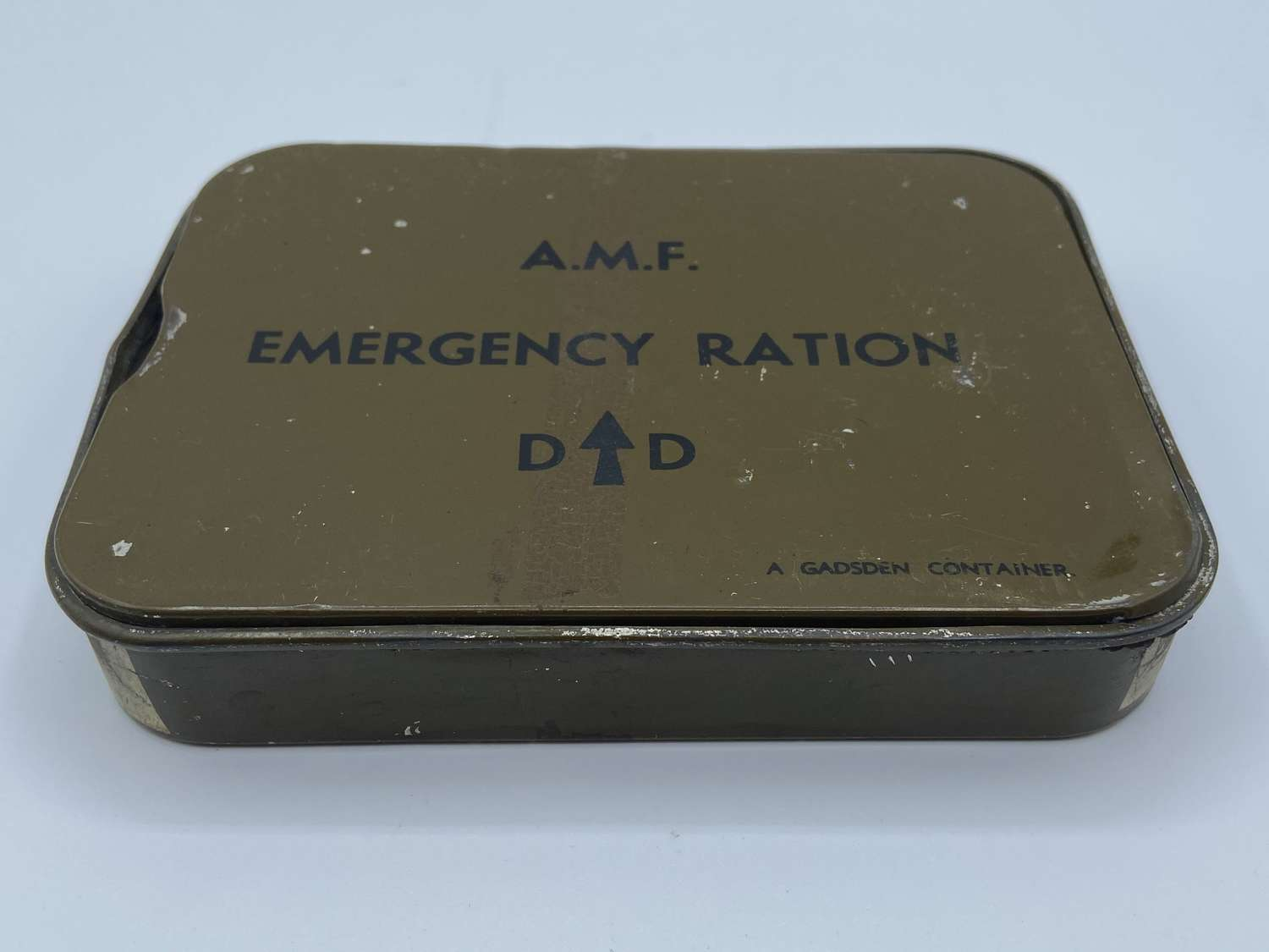 WW2 Austalian Military Forces AMF Emergency Ration Tin 1944 Dated (2)