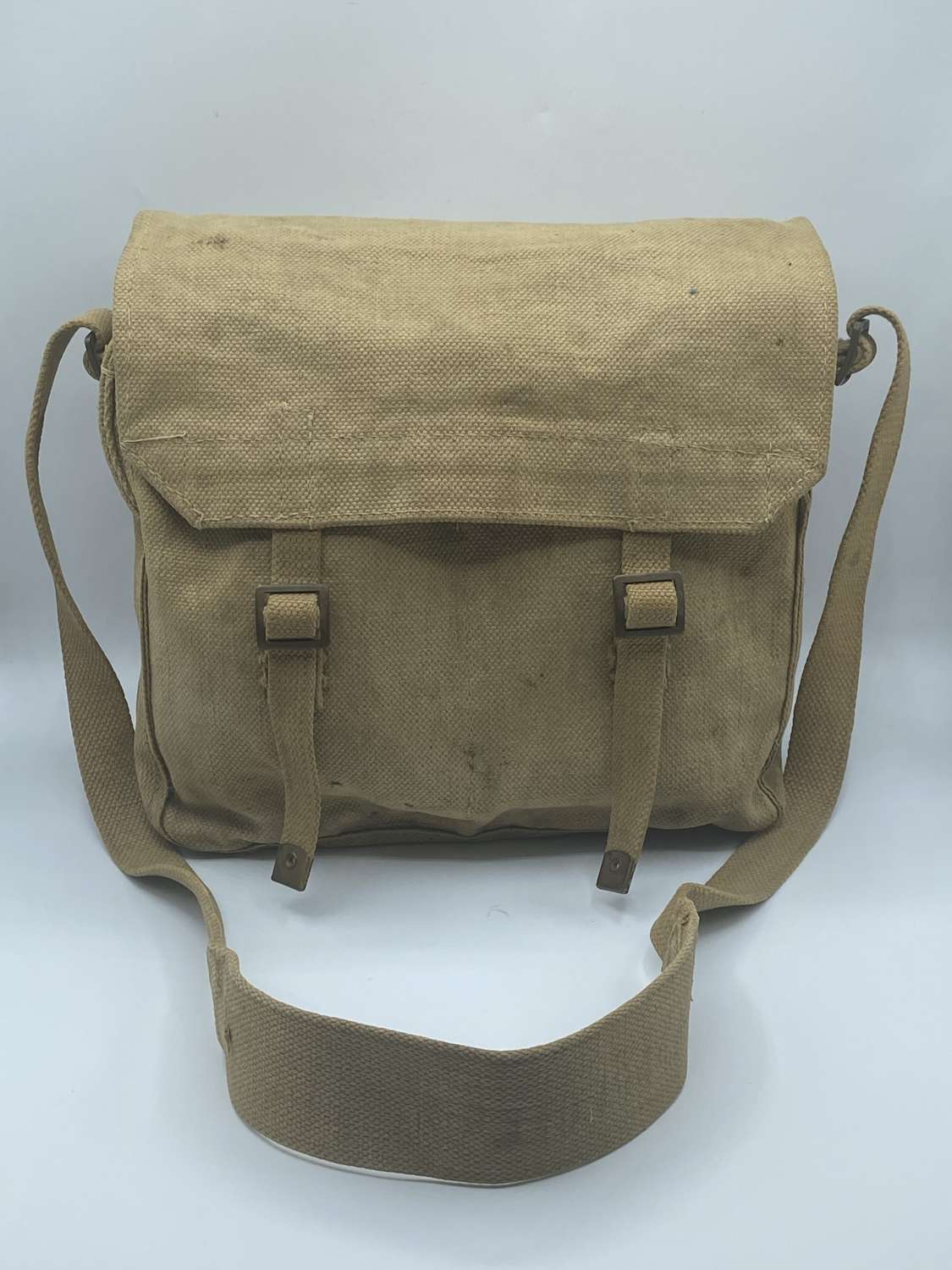 Modified WW2 British Army Issue 1937 Pattern Haversack 1944 Dated