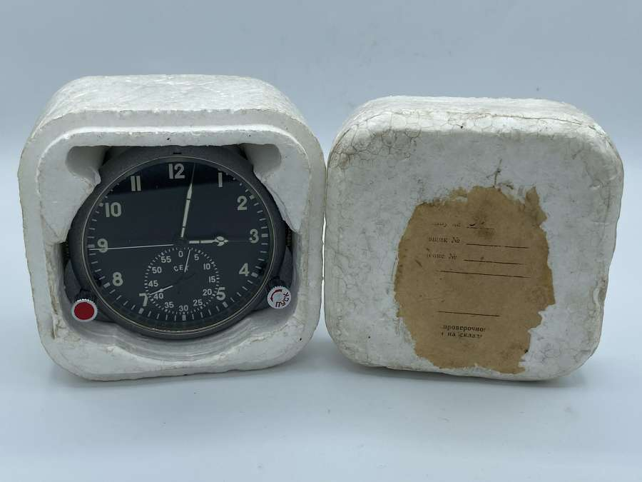 Mikoyan-Gurevich MiG21 Soviet Union Airforce Cockpit Working Clock
