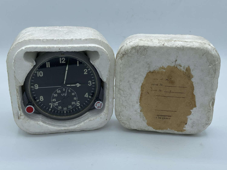Mikoyan-Gurevich MiG21 Soviet Union Airforce Cockpit Working Clock