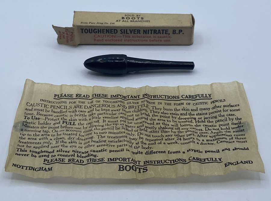WW2 British Home Front Toughened Silver Nitrate BP In Packing