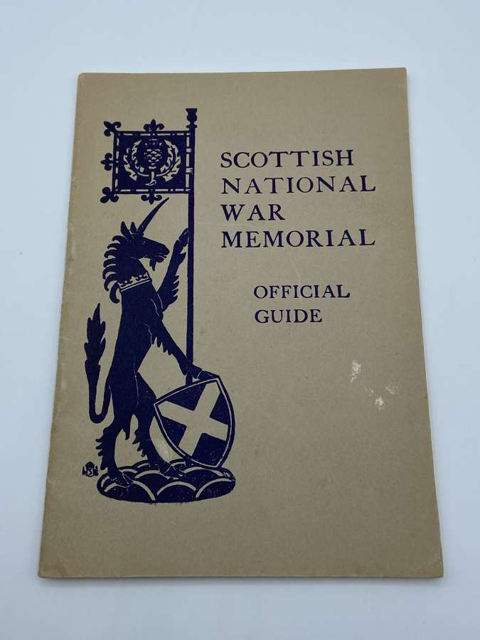 WW2 1943 Dated Scottish National War Memorial Official Guide