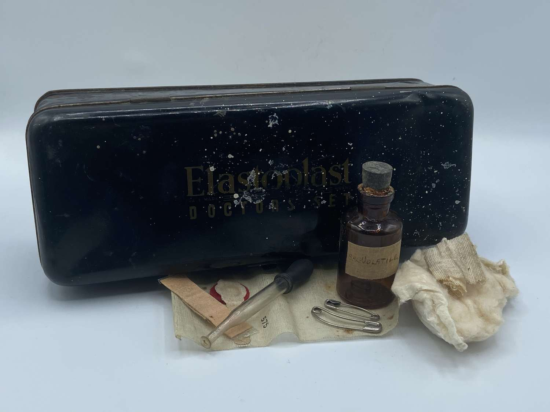 WW2 Elastoplast Doctors Set Tin Homefront First Aid Tin