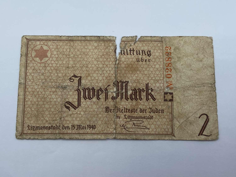 2 Mark 1940 Ghetto Litzmannstadt Rauchwerger Forgery Only 5500 Made