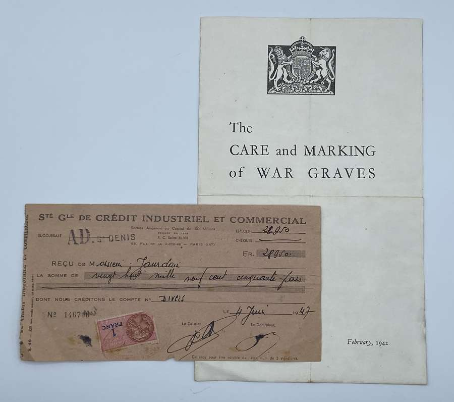 WW2 1942 Imperial War Graves Commissions Care & Markings Of War Graves