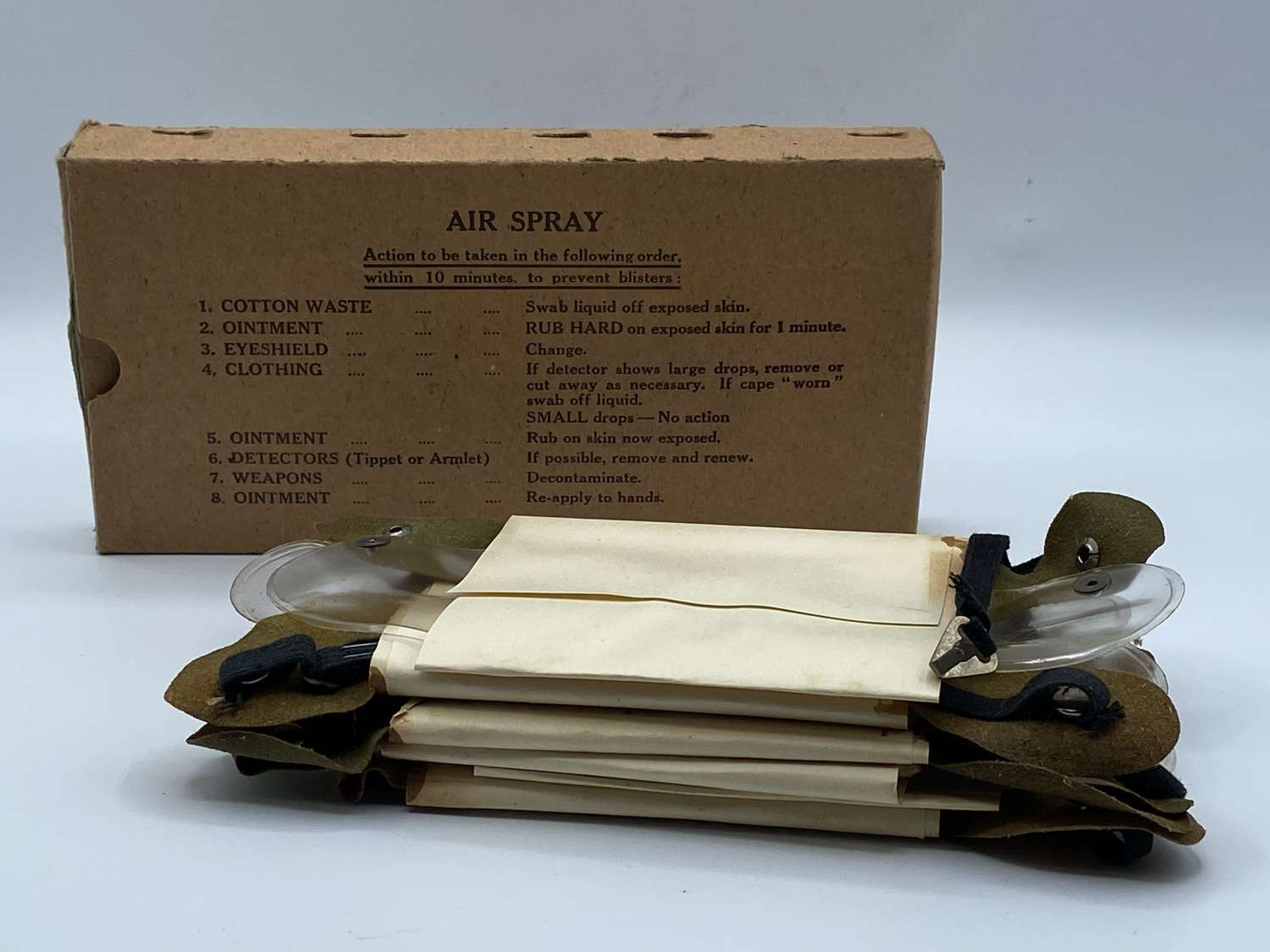 WW2 British Army Complete 6 Pack Of Anti-Gas MKII Eye Shields Carton