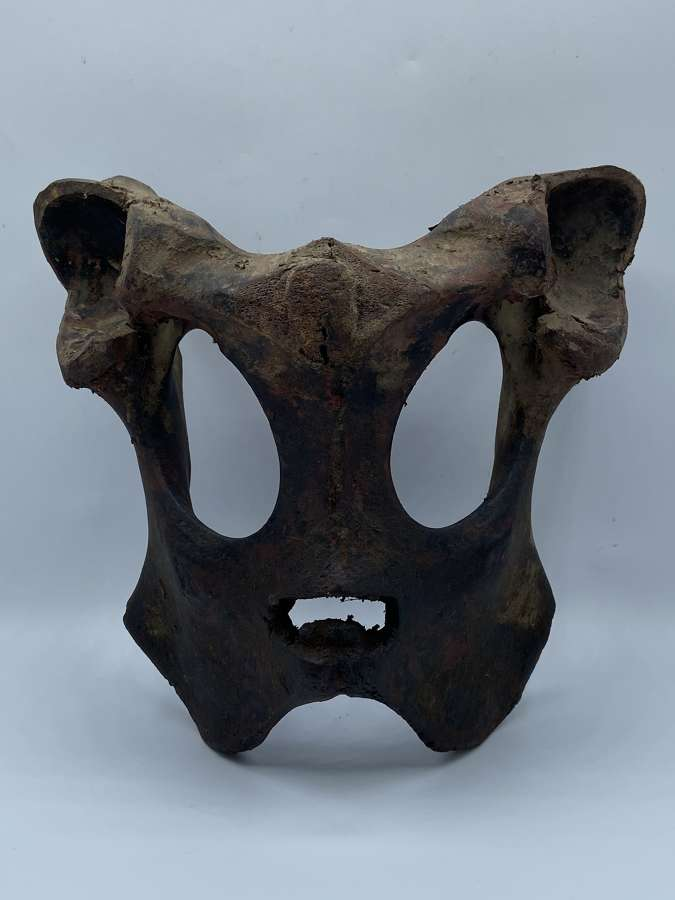 Antique Tibetan Kapala Tribal Buddhist Yak Bone Shaman Ritual Mask