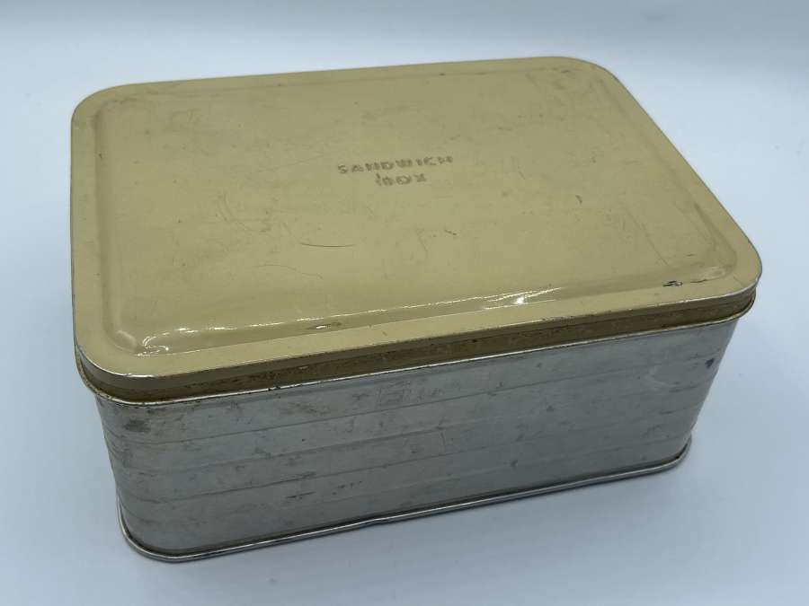 1940s WW2 Home Front Civilian Childs Sandwich Box Tin