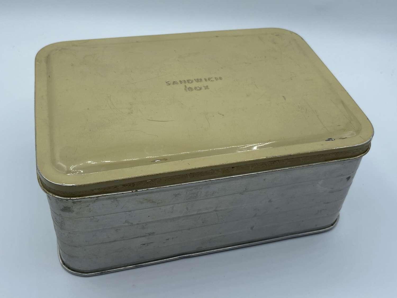 1940s WW2 Home Front Civilian Childs Sandwich Box Tin