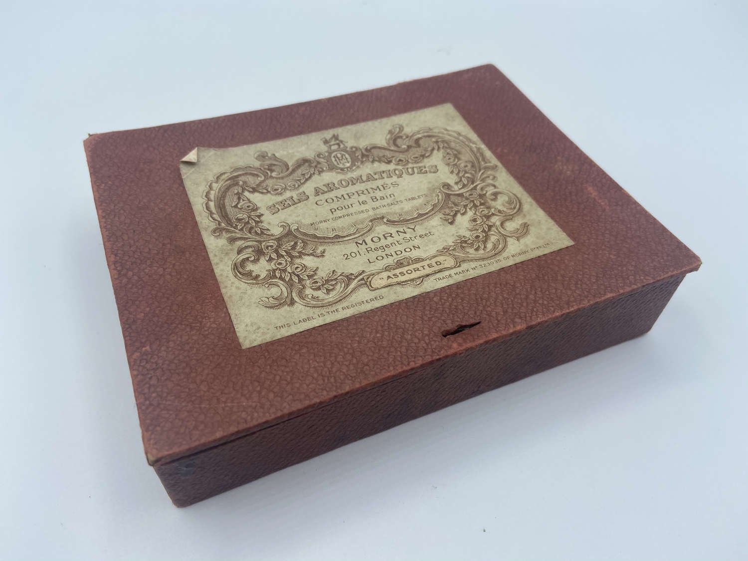 Victorian Regent Street London Perfume Empty Floral Bath salts Box