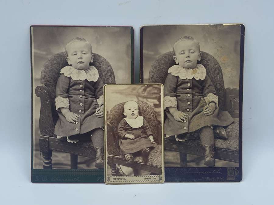 Three Victorian Learning Difficulties CDV Photos Of A Young Boy