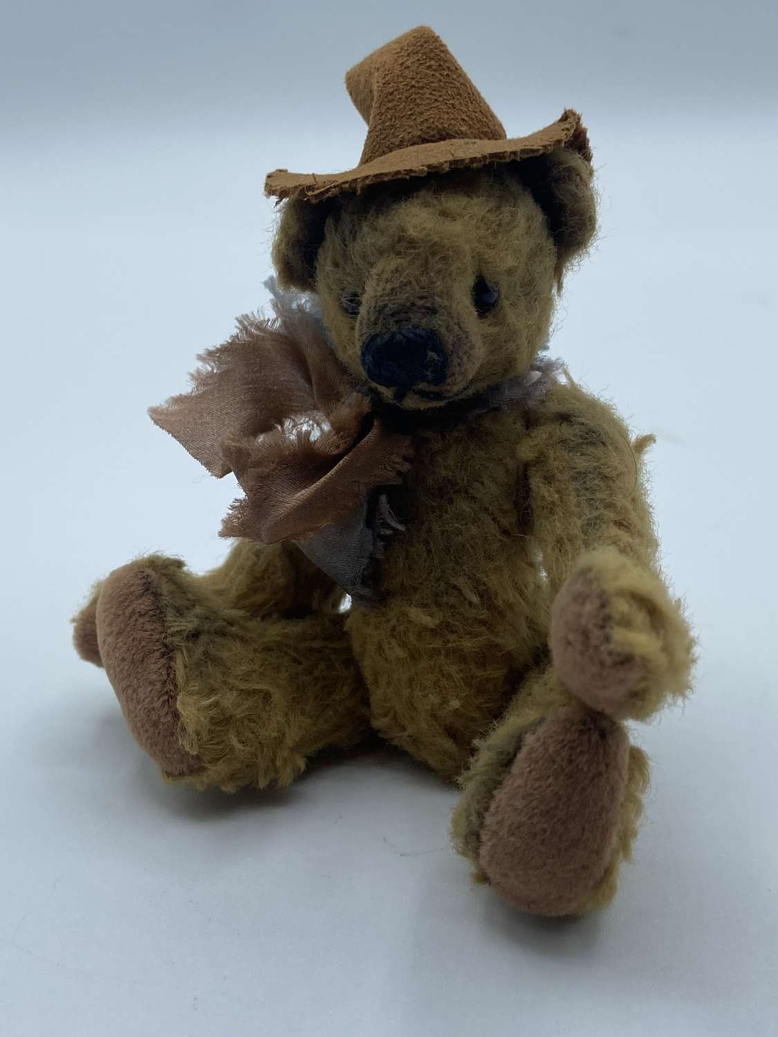 Antique C1910 Jointed Miniature Mohair Steiff Teddy Bear 4.7""