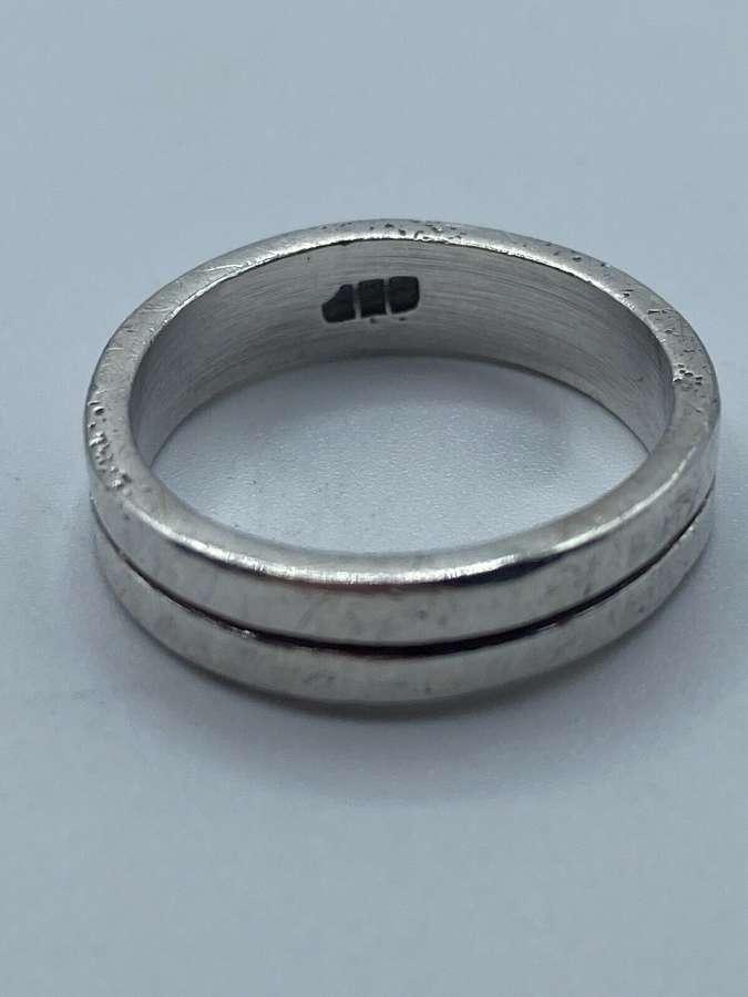 Vintage 925 Silver Hallmarked Men's Ring 5.79g
