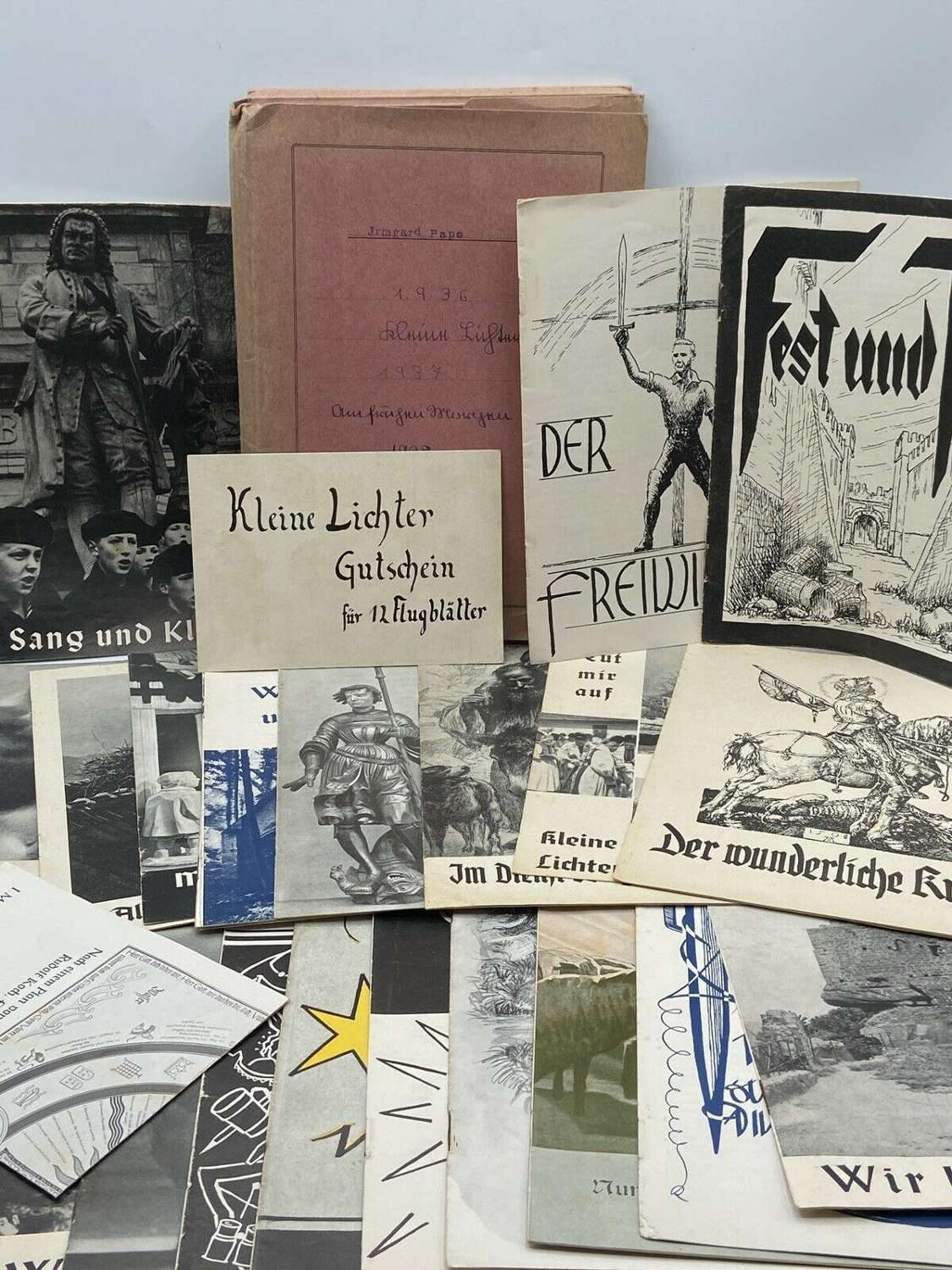 WW2 German Lot Of Hitler Youth School Education Booklets 1936 To 1939