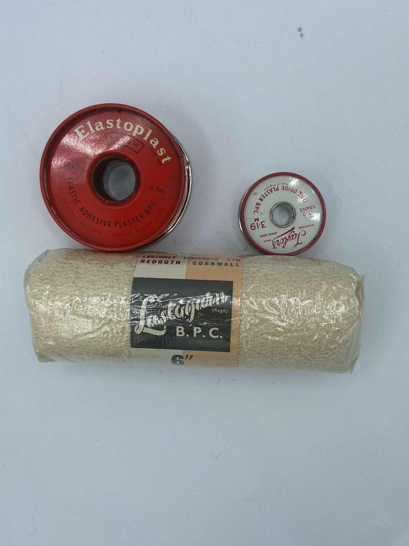 WW2 British HomeFront Elastoplast Circular BCP Tin & Bits