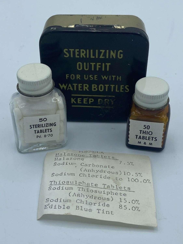 WW2 Era British Army & RAF Sterilizing Outfit Original Tin & Contents