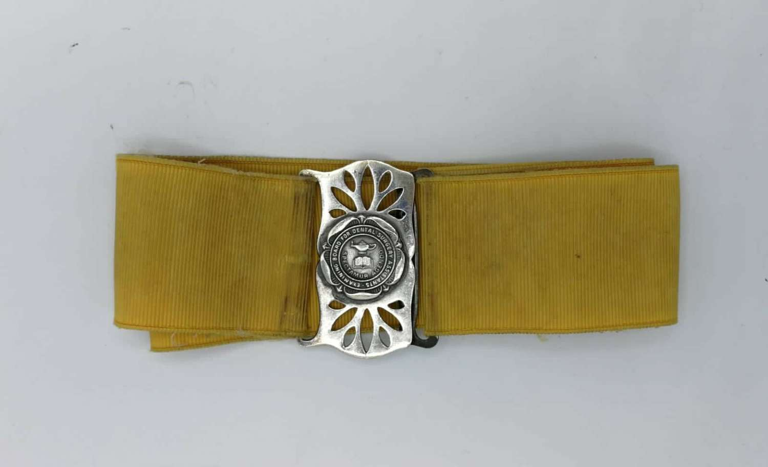 Antique National Examining Board for Dental Nurses Belt And Buckle