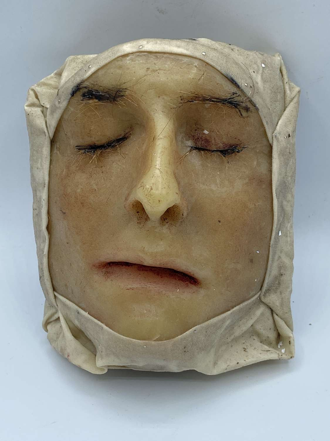 Antique German Wax Medical Death Moulage Of A Young Male