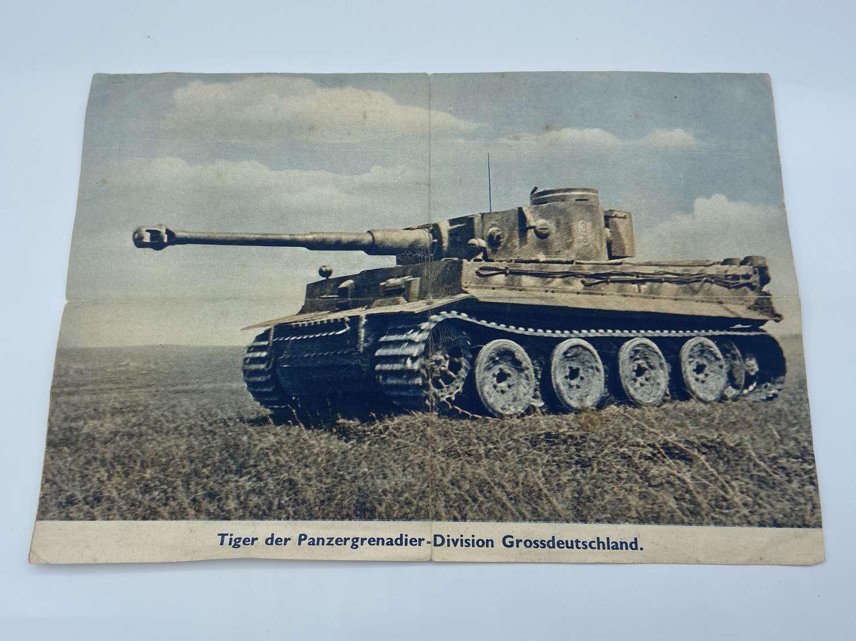 Rare WW2 German Tiger Tank Document From A Tank Operating Manual