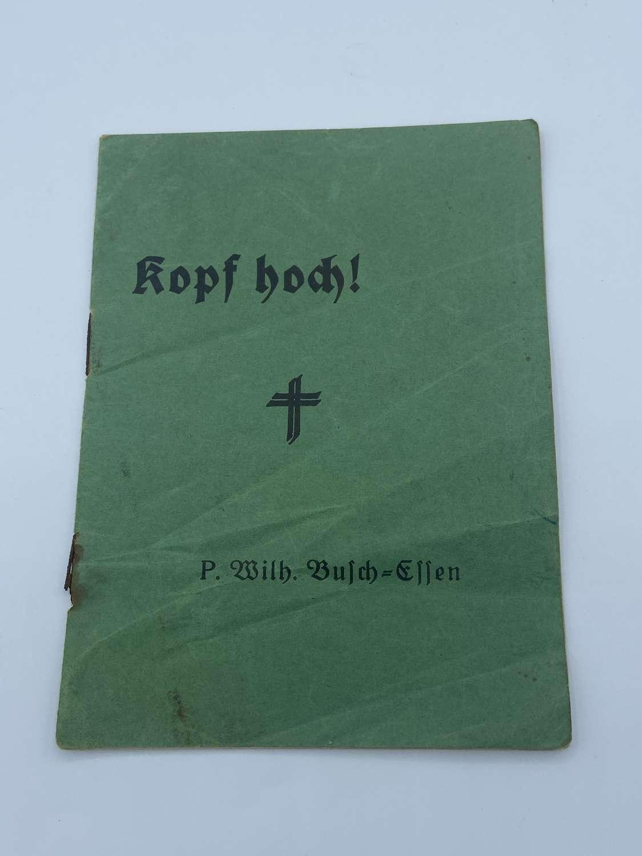 WW1 German Army Cheer Up Booklet 'kopf Hoch' By P Wilhelm Busch Es