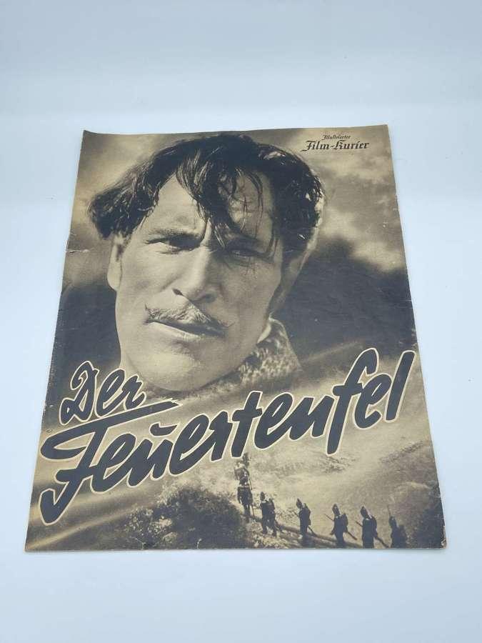 Rare WW2 German 1940 Film Booklet On DER FEUERTEUFEL (Napoleonic Theme