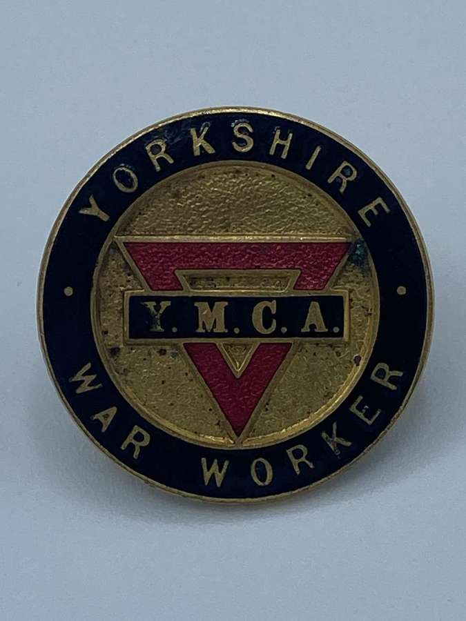 WW2 YMCA Yorkshire War Workers Enamel Badge By Fattorini Bradford