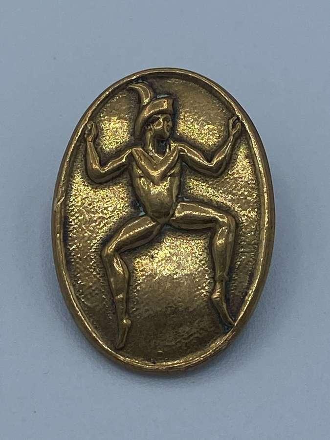 Ww2 Era Girls Guides Lucky Pixie Brass Badge