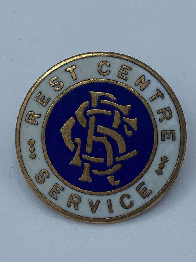 WW2 Home front Rest Centre Service Badge For Home Front Blitz Victims