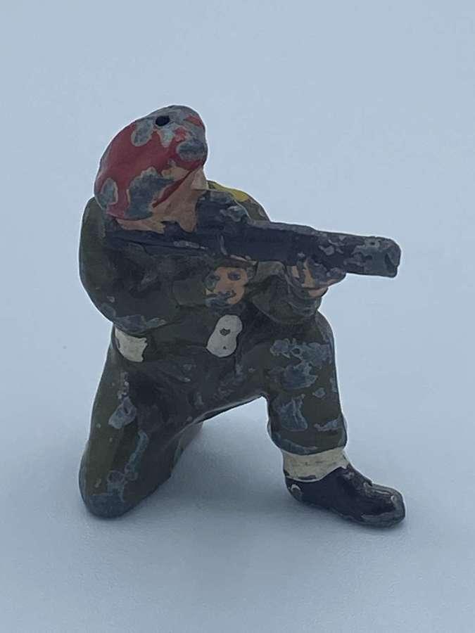 Rare WW2 1940s Wartime Metal Airborne SAS Paratrooper Toy Soldier