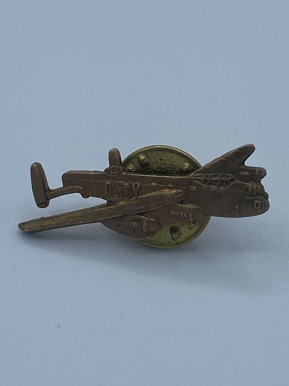 WW2 1940s Balou Regd RAF 83 Squadron Lancaster Bomber OL-Y Badge