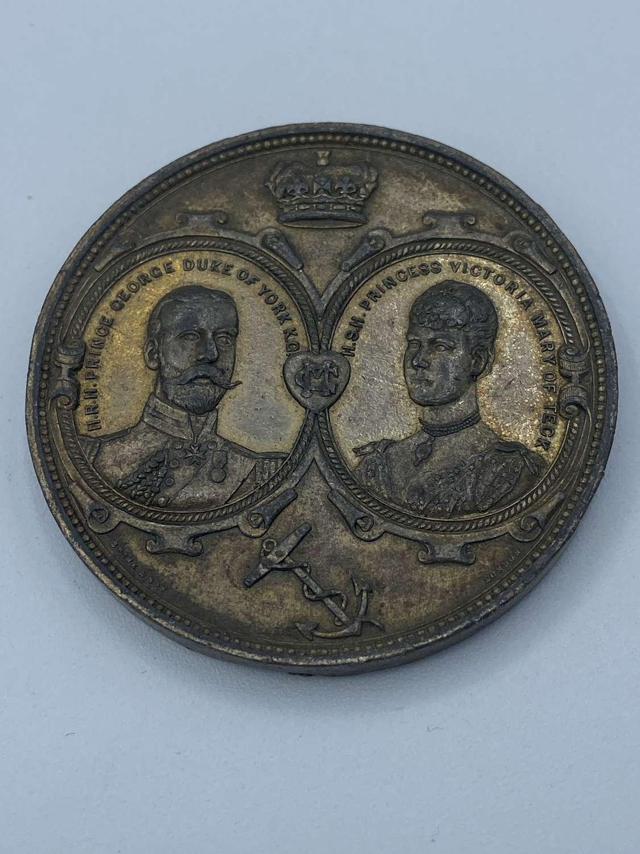 Duke of York & Princess Victoria Mary of Teck 1893 Commemorative Medal