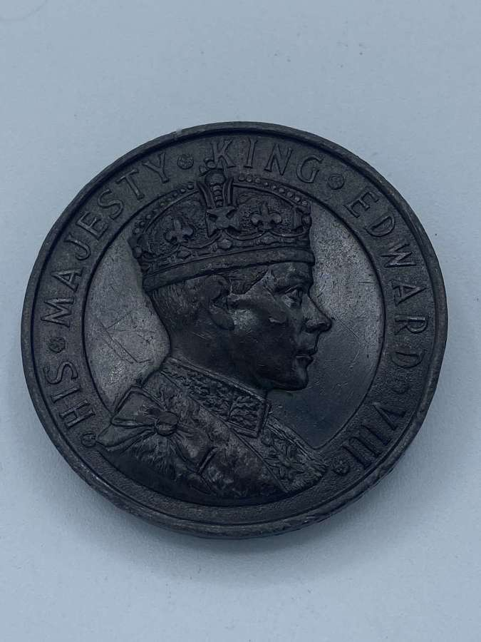 Antique WW2 1937 Coronation Of King Edward VIII Crowned 1937 AD Medal