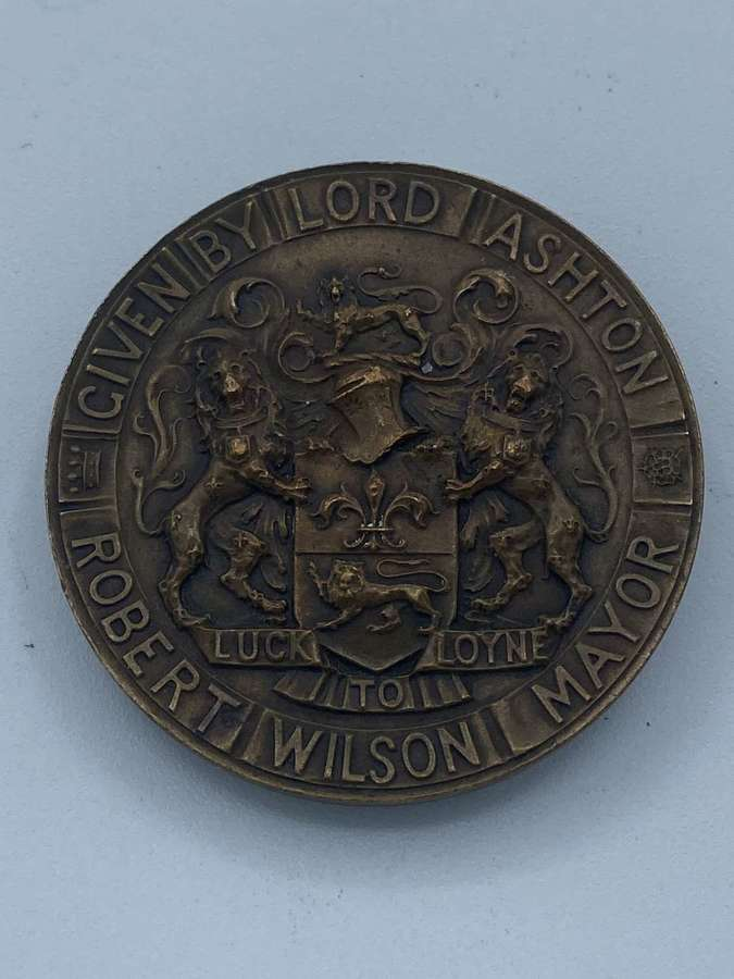 Antique Lancaster 1909 Medal Commemorating The Opening Of The TownHall