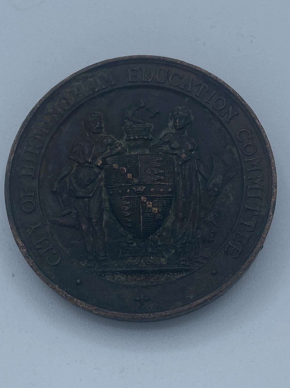 Edwardian 1907 Birmingham Education 4Yh Attendants Medal Olive Andrews