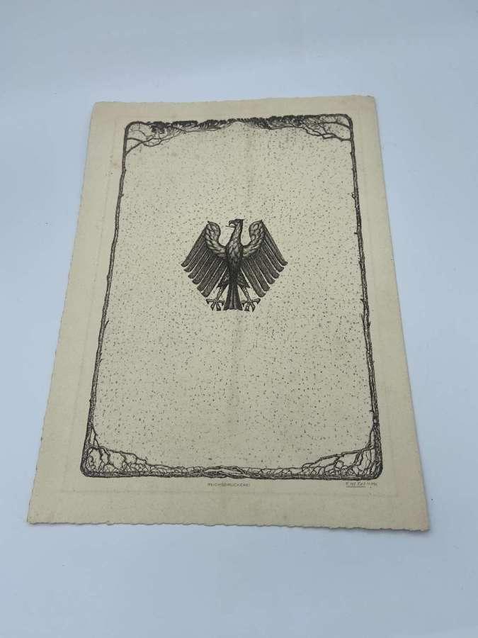 Pre WW2 1929 Dated Deutsche Reichspost Wedding Congratulations Card