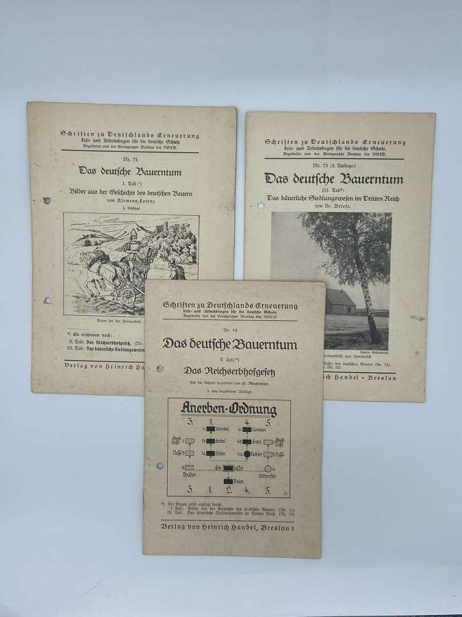 WW2German Official School Literature Reeducation Of Children TextBooks