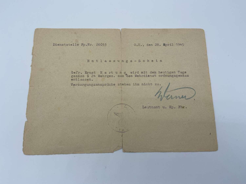 WW2 Wehrmacht Dienststelle Soldier Letter To Home from LT U KP FHR